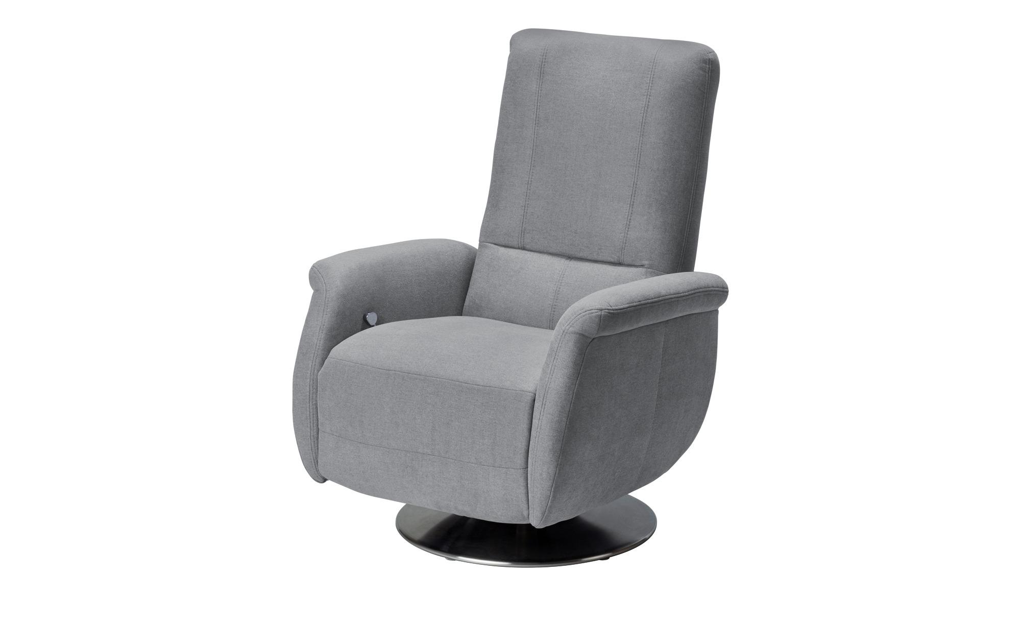 meinSofa Relaxsessel grau - Stoff Felix