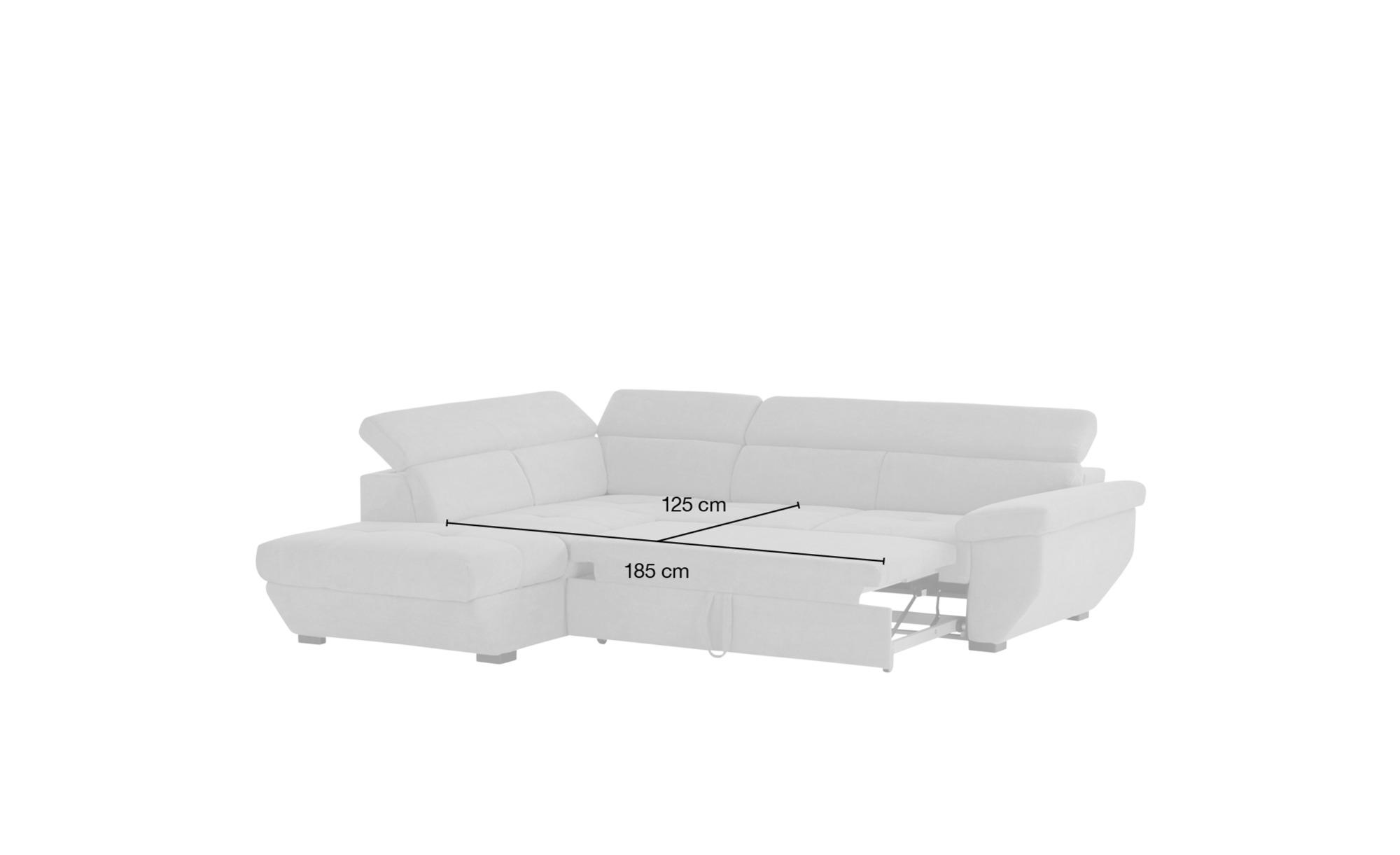 uno Ecksofa schwarz - Leder Formula