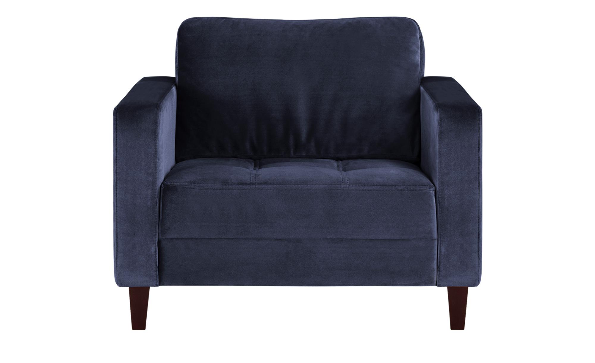 smart Sessel blau - Stoff Geradine