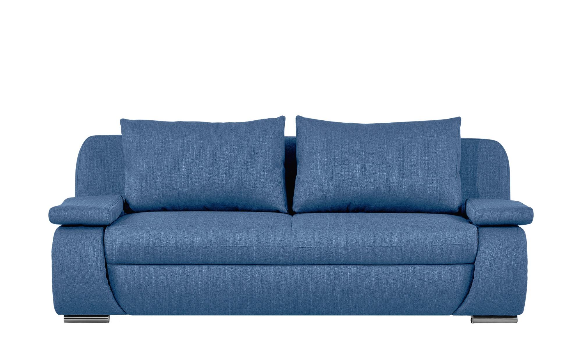 smart Schlafsofa  blau - Webstoff Bonita