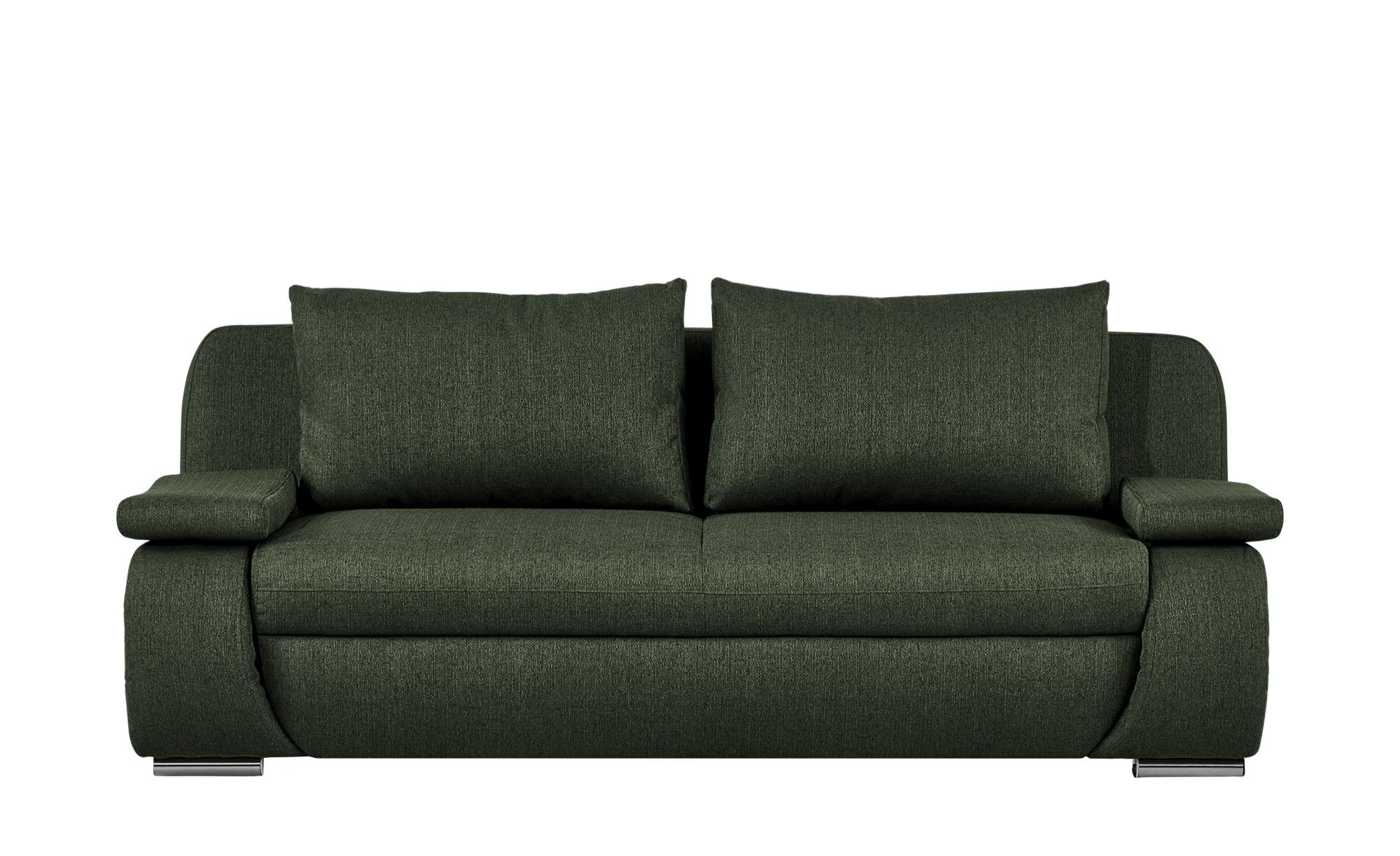 smart Schlafsofa  grün - Webstoff Bonita