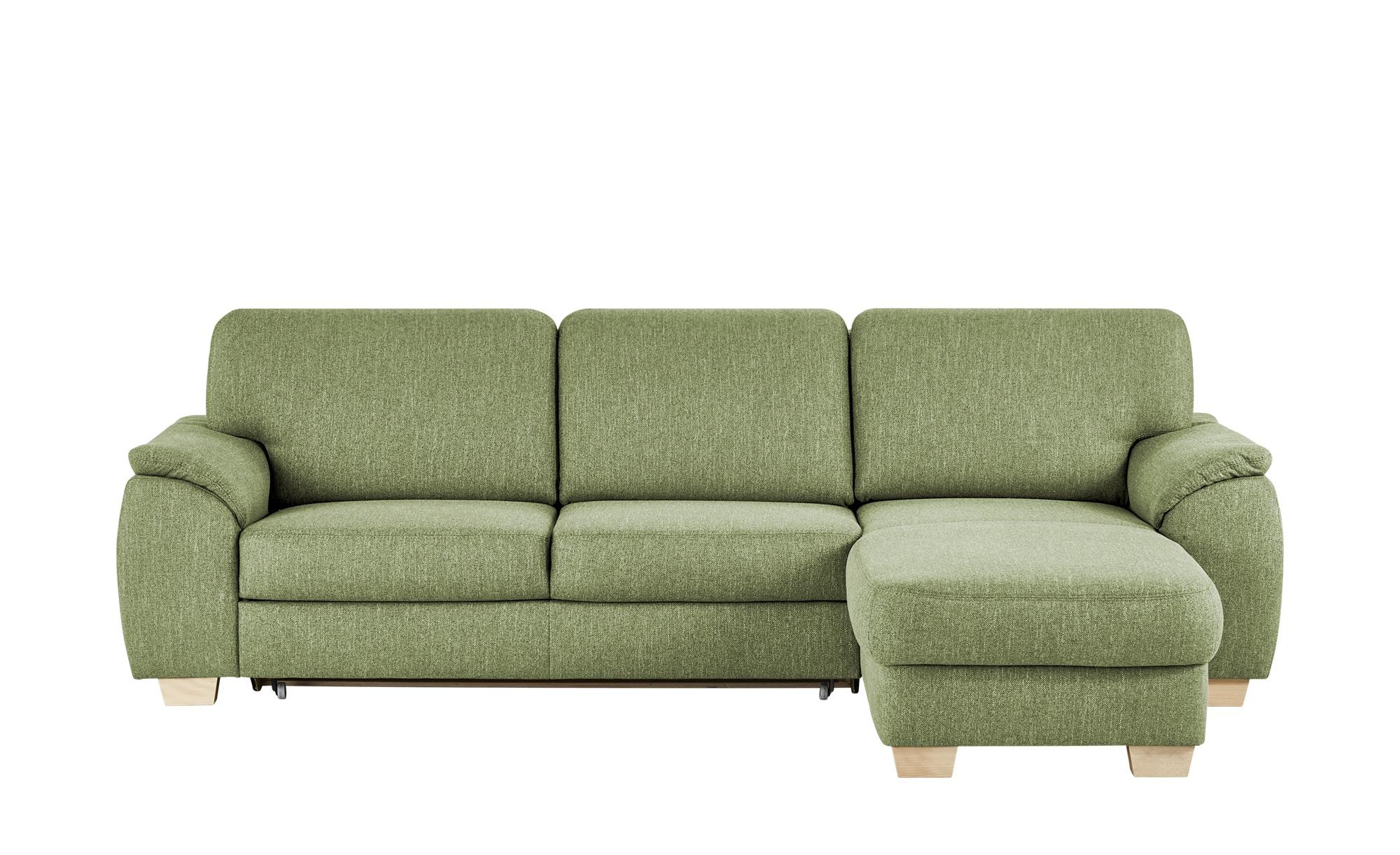 smart Ecksofa grün - Webstoff Valencia