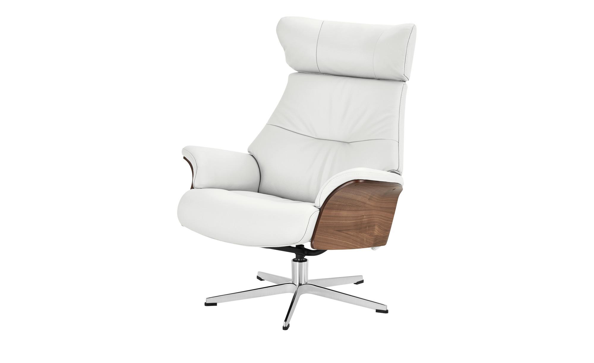 Relaxsessel weiß - Leder