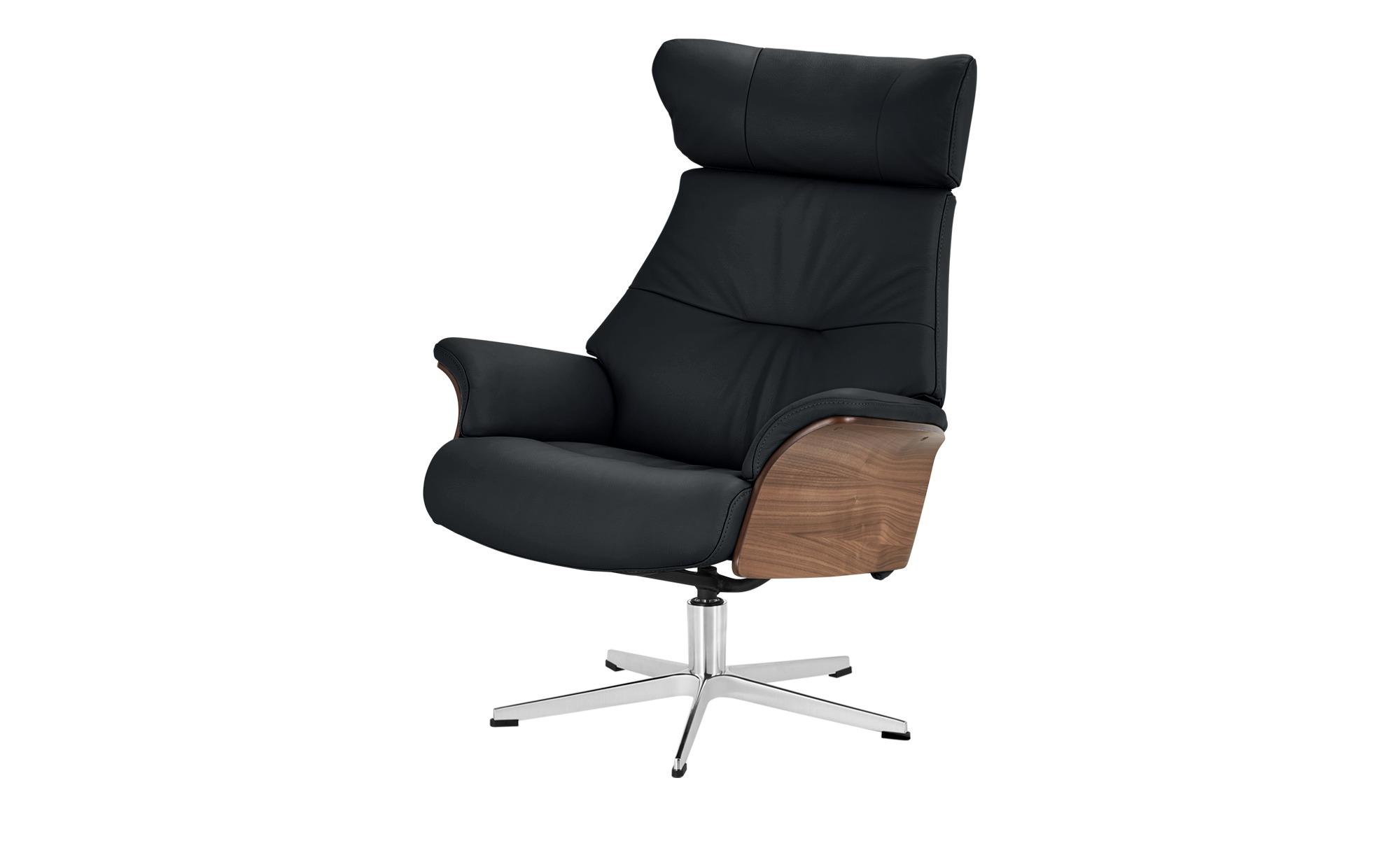 Relaxsessel schwarz - Leder