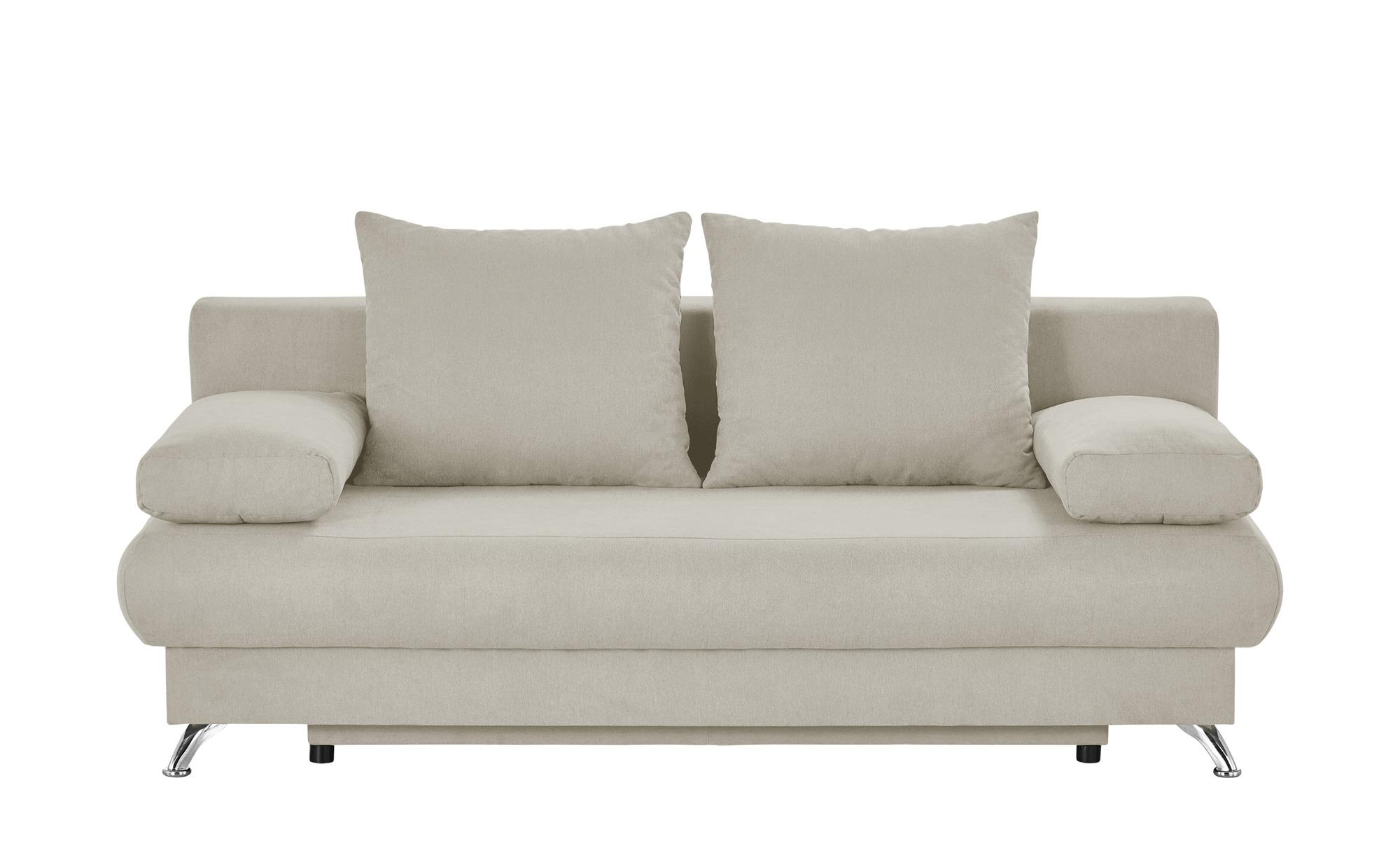 Schlafsofa weiß - Flachgewebe