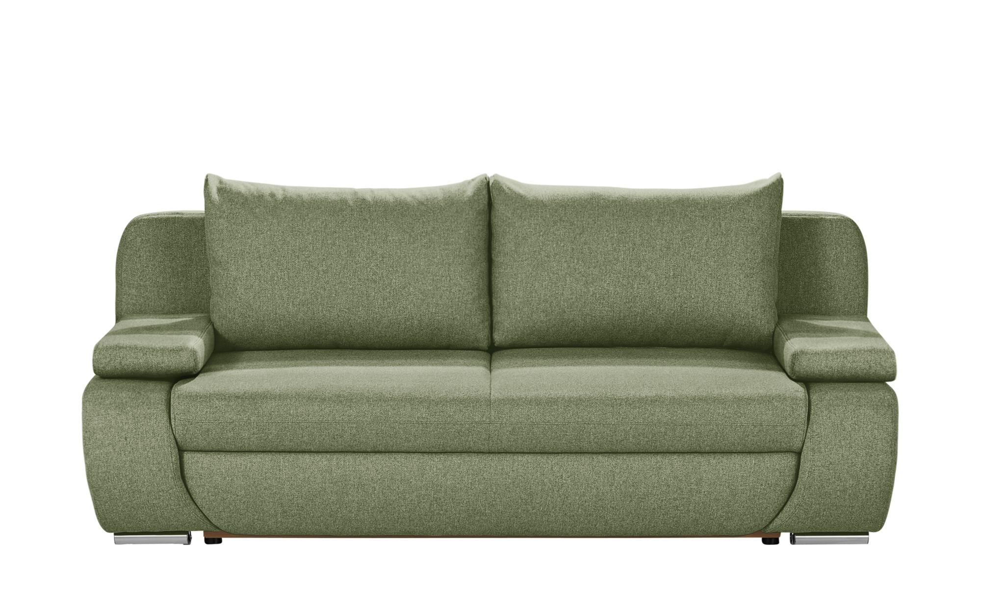 smart Schlafsofa grün - Webstoff Borneo