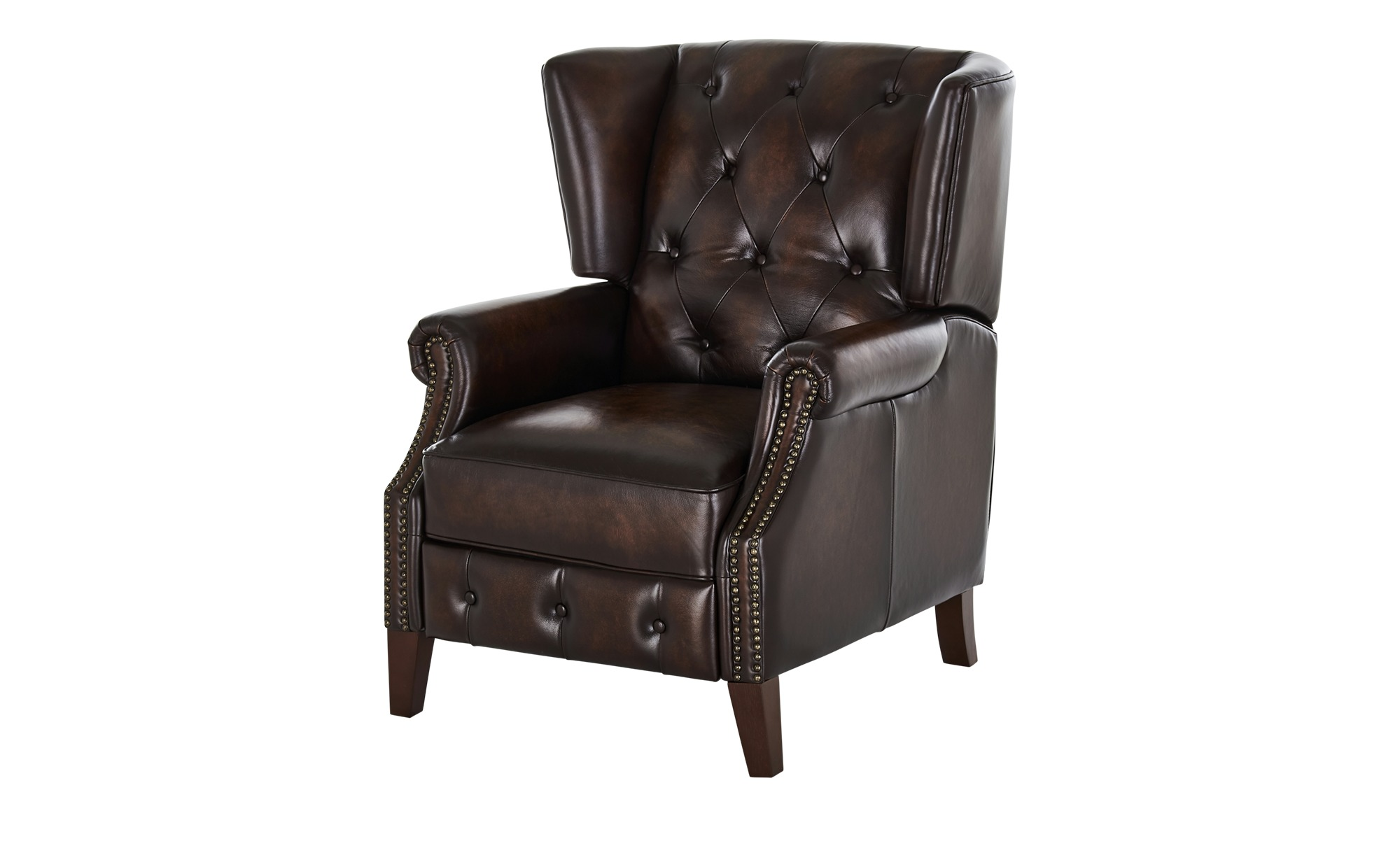 uno Relaxsessel aus Leder  Chesterfield